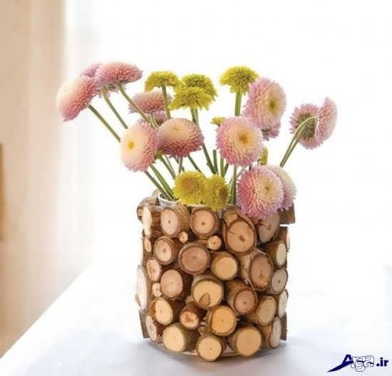 ساخت گلدان تزیینی با چوب