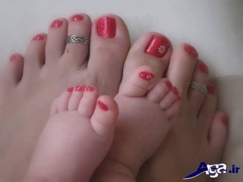 طراحی ساده ناخن پا