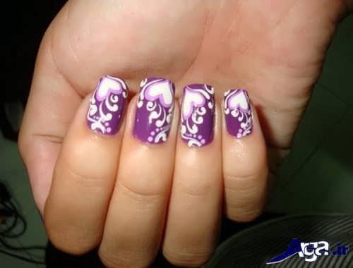 طراحی بر روی ناخن دست
