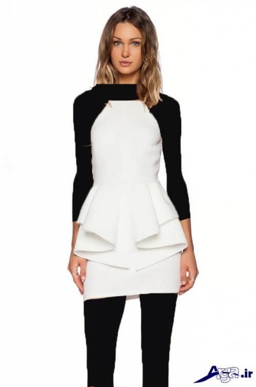 مدل لباس مجلسی ساده با رنگ سفید