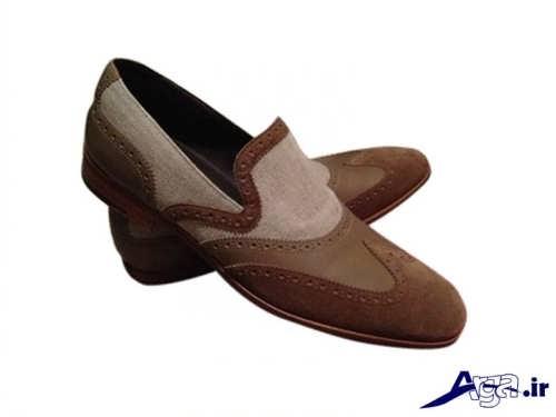مدل کفش مجلسی مردانه دو رنگ