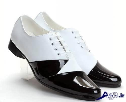 کفش مجلسی سیاه و سفید مردانه
