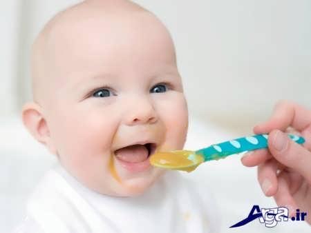 غذای کمکی ایمن برای نوزاد