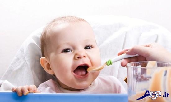تغذیه کودکان 6 ماهه و کم وزن