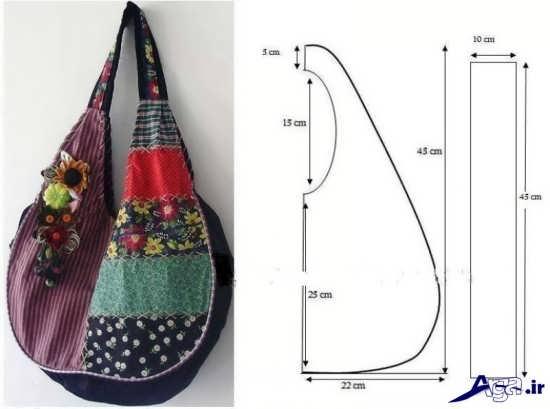 الگوهای دوخت کیف نمدی