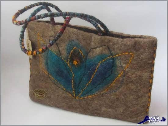 الگو برای دوخت کیف نمدی دخترانه
