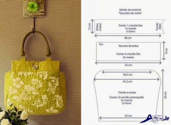 الگو برای دوخت کیف