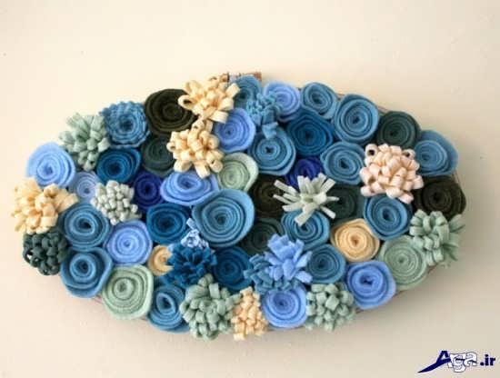 ساخت گل های نمدی زیبا