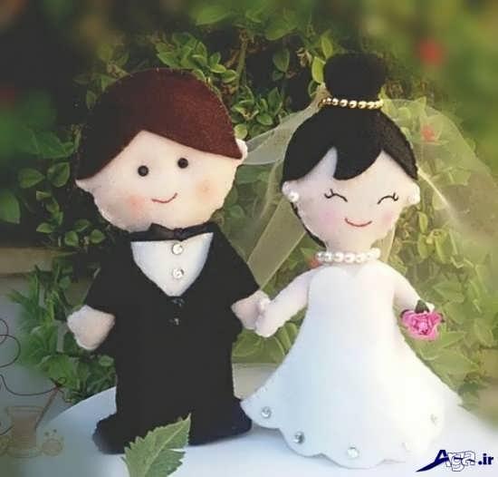 عروس و داماد نمدی زیبا