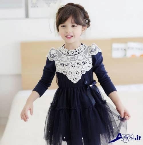 مدل پیراهن کره ای برای دختر بچه ها