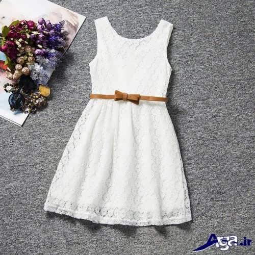 مدل پیراهن مجلسی سفید
