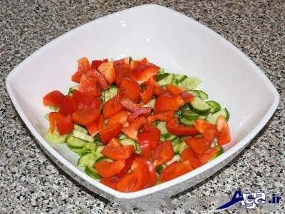 خرد کردن گوجه