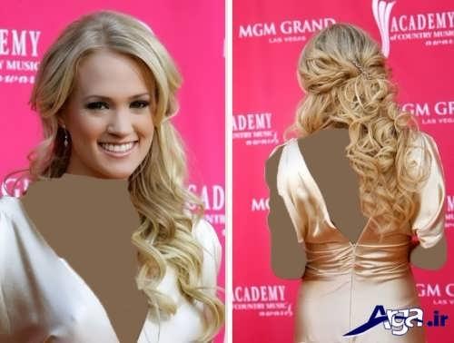 مدل موی نیمه باز زنانه