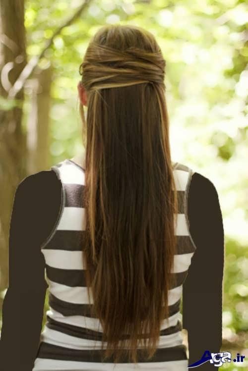 موی نیمه باز دخترانه