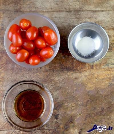 مواد لازم برای تهیه ترشی گوجه فرنگی