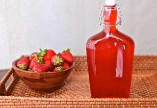 طرز تهیه شربت توت فرنگی در منزل