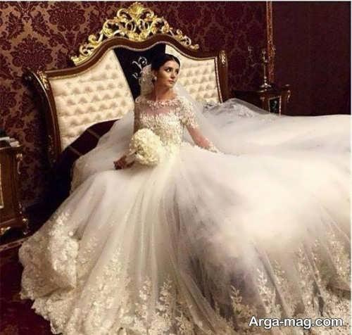 لباس عروس ترک توری