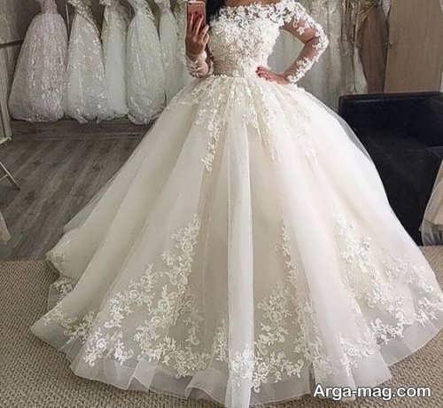 پیراهن عروس ترکیه ای پفی