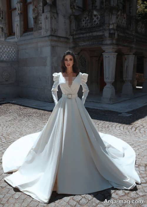 پیراهن عروس ترکیه ای ساتن