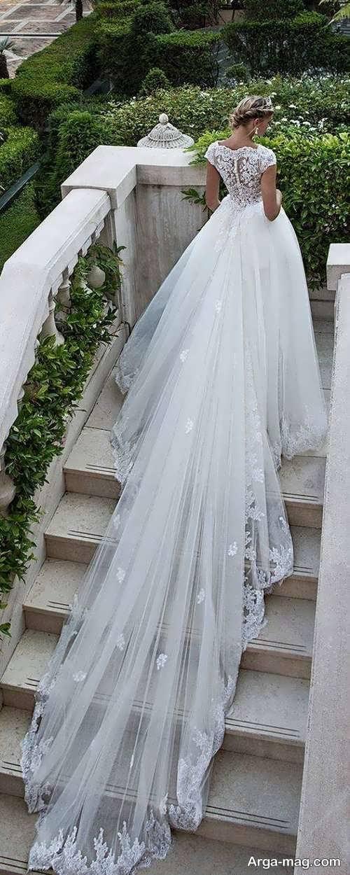 پیراهن عروس ترکیه ای دنباله دار
