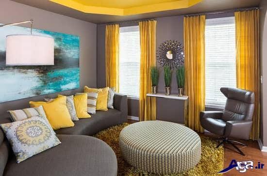 اتاق پذیرایی زرد