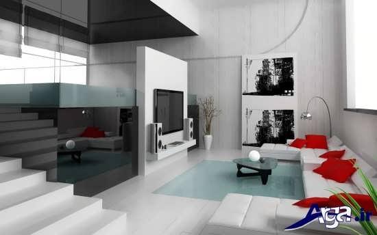 دکوراسیون زیبا اتاق پذیرایی مدرن