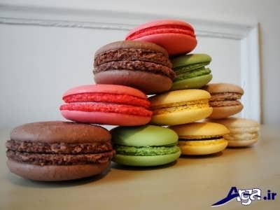 شیرینی ماکارون با طعم های مختلف
