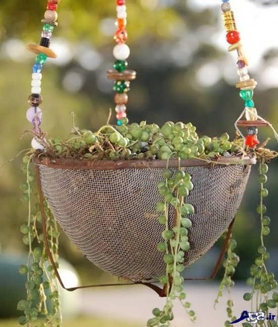 ساخت گلدان با وسایل بازیافتی