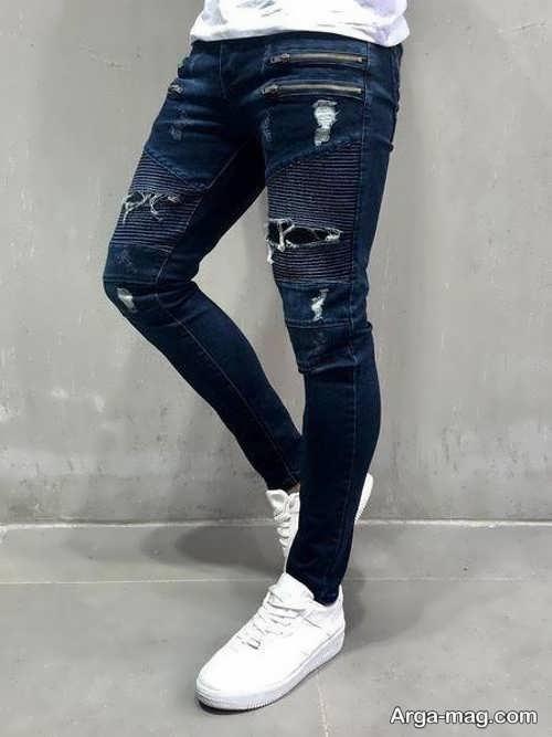 مدل شلوار لی مردانه دمپا تنگ