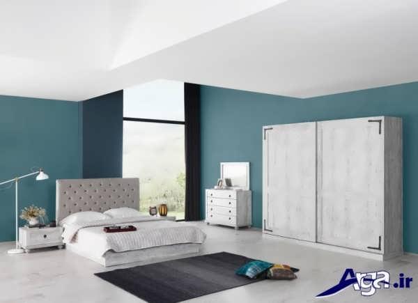 سرویس خواب زیبا با رنگ روشن