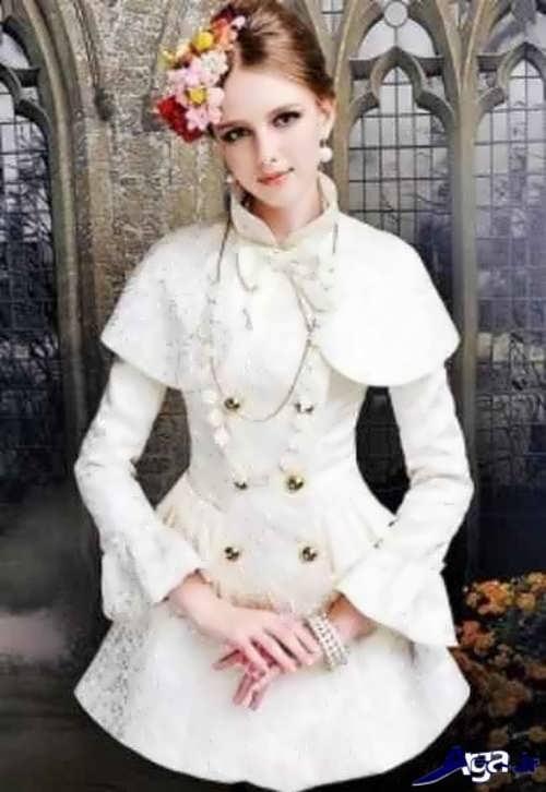 مانتو عروسکی با رنگ سفید