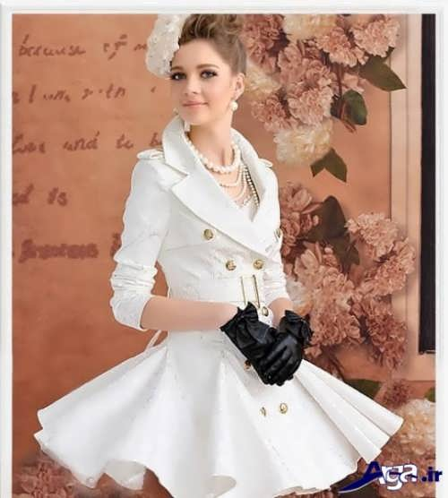 مدل مانتو عروسکی سفید