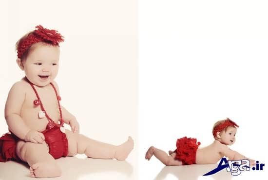 ژست های متفاوت برای عکس نوزاد