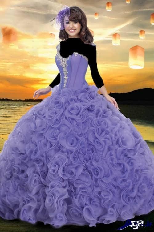 مدل لباس بلند پرنسسی