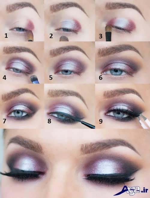 مراحل انجام آرایش چشم عروس