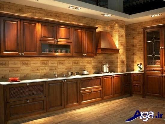 مدل کابینت چوبی مدرن آشپزخانه