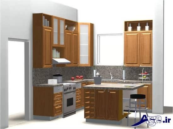 مدل کابینت چوبی برای آشپزخانه