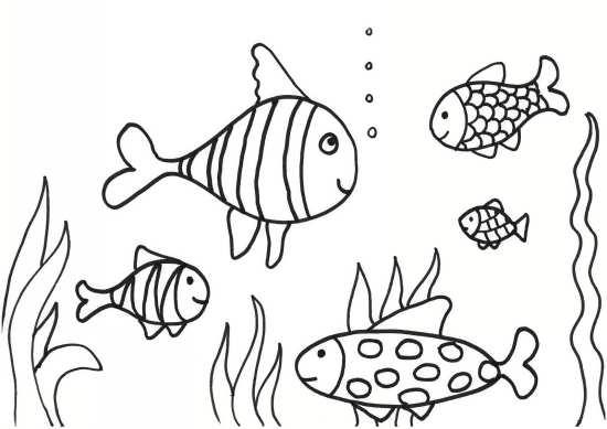 نقاشی دریا و ماهی