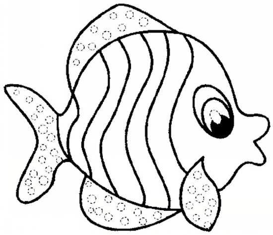 نقاشی زیبای ماهی