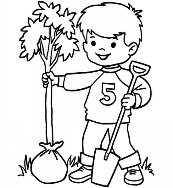 نقاشی درختکاری برای کودکان
