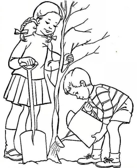 نقاشی ساده درخت