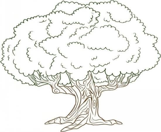 نقاشی کودکانه درخت