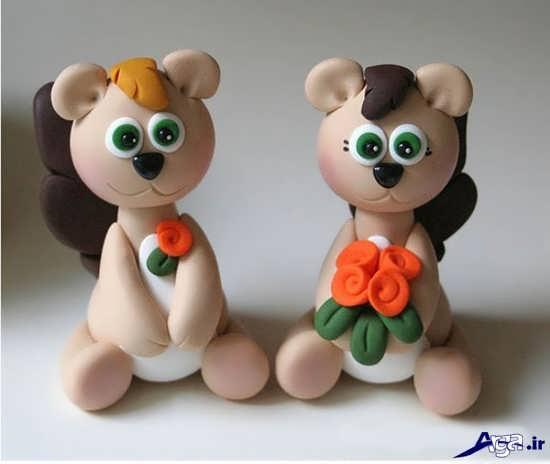 ساخت انواع عروسک های خمیری