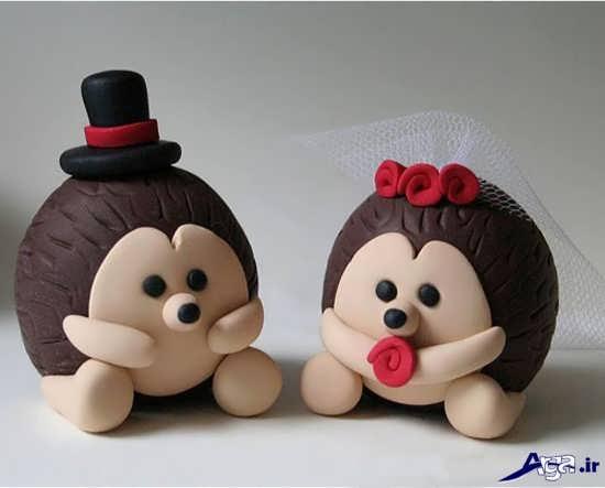 عروسک خمیری عروس و داماد