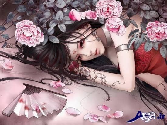 عکس غمگین کارتونی دخترانه