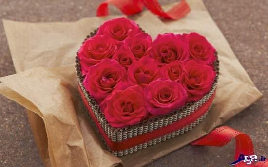 عکس های گل با تزیین قلب