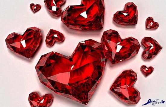 قلب های شیشه ای زیبا
