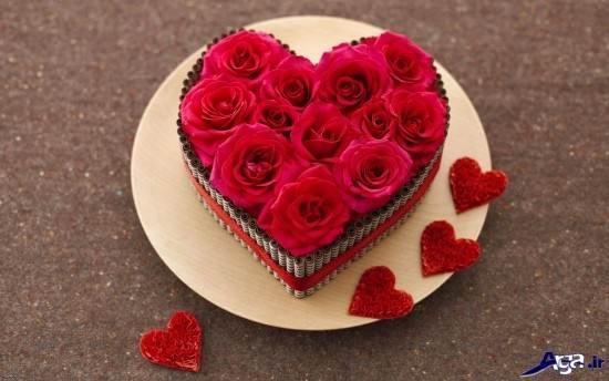 عکس های جذاب گل با طرح قلب