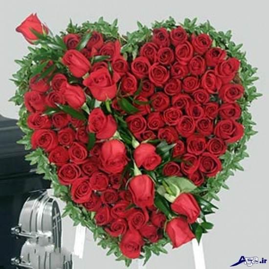 عکس جذاب گل و قلب