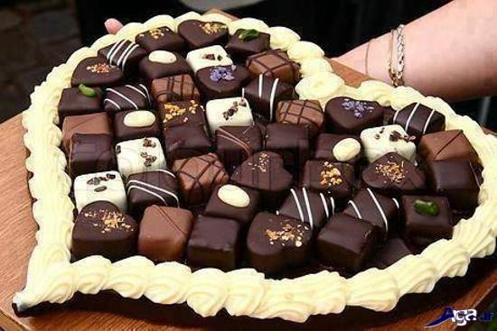 عکس کیک قلب برای ولنتاین